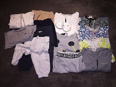 Bonds & Cotton On Baby Lot Of 15 Winter Clothing Items Baby Boy Size 0