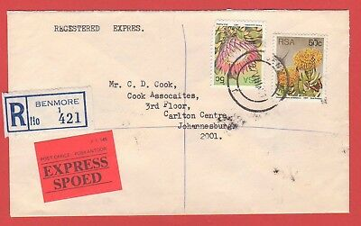 South Africa - Registered Express Cover - 1981 - Benmore