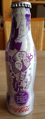 nice coca cola alu bottle lovebeing m5 from italy/germany.Full bottle With dents