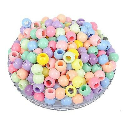Craft DIY Mixed Pastel Color Acrylic Round Pony Beads Kids Craft Kandi Bracelet