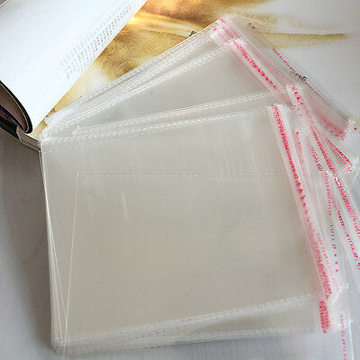 100 x New Resealable Clear Plastic Storage Sleeves For Regular CD Cases FJ