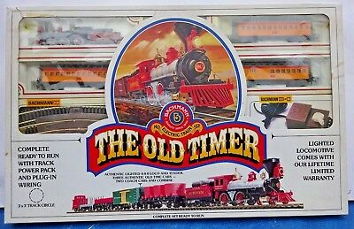 """Vintage Bachmann  HO Scale """"The Old Timer"""" Electric Train Set No. 276 MIB Tested"""
