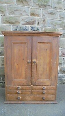 Antique Pine Kitchen Housekeepers Cupboard