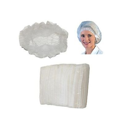 Huini 200pcs Disposable Non-woven Hair Net Cap Mob Elastic Free Size(100pcs/b...