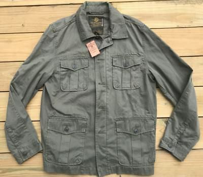 c88a450188fe8 Lucky Brand Men's Cargo Army Utility Jacket Green Size Large L New NWT