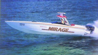 Boat Mirage 40 ft with Trailer as his