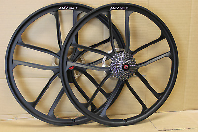 "26"" 27.5"" 650b 29"" 29er MTB Bike Magnesium Alloy Disc Wheel Set 7/8/9/10 Speed"