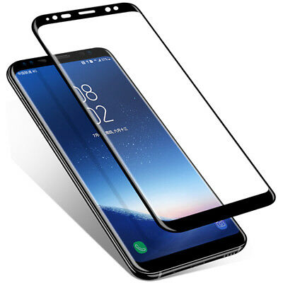 3D Glass für Samsung Galaxy S9 Plus S8 Full Screen Protector Cover Curved Well t