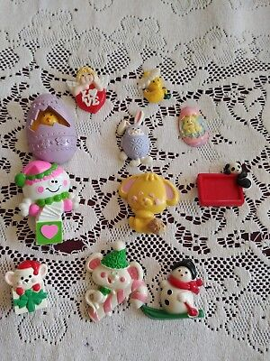 LOT OF 18 Vintage 70s Avon Fragrance Glace Pins and Holiday Pins Misc Pins