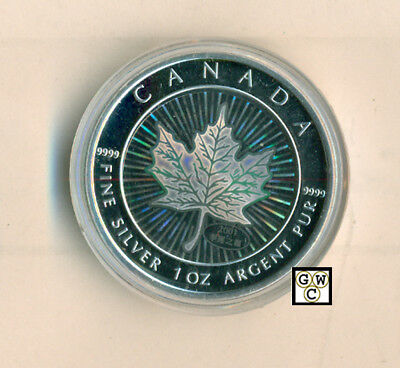 2001 Hologram 1oz Silver Maple Leaf .9999 Fine (10488) (NT) (OOAK)