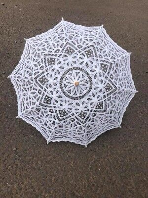Vintage Wedding Bridal Handmade Parasol Lace Sun Umbrella