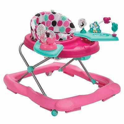 Disney Minnie Mouse Dotty Music Lights Activity Tray Baby Walker 3 Positions New