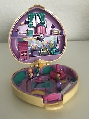 Polly Pocket Mini Herz Strollin Baby komplett Babysitting1994 Bluebird