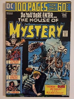 The House Of Mystery #225, higher grade, bronze age horror - 100 pages!