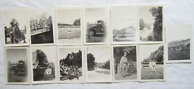 13 Vintage Photo Lot Ww2 Wwii 20Th Armored Soldier Germany Swimsuit Ammo Trucks
