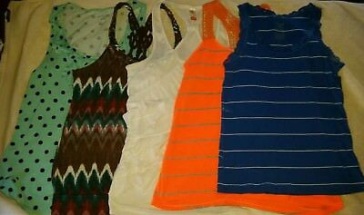 Lot of 5 Woman's XL Tank Tops - Summer Tops - Size 14/16 Tanks - Preowned