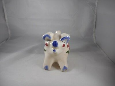 Vintage California Pottery Pig Bank With Tulips