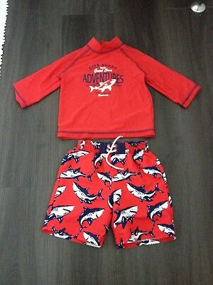 Mothercare Boys Swim Shorts & Rash Vest Swim T Shirt Suitable for 3 year old