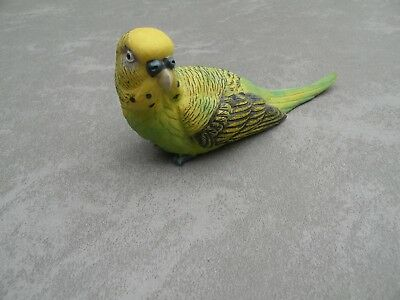 Lifelike Green Parakeet Budgie Budgerigar Bird resin Wild Animal Toy Figure K2