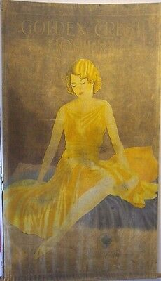 One of a Kind Antique Art Deco Hosiery Advertisement Tapestry Montgomery Ward