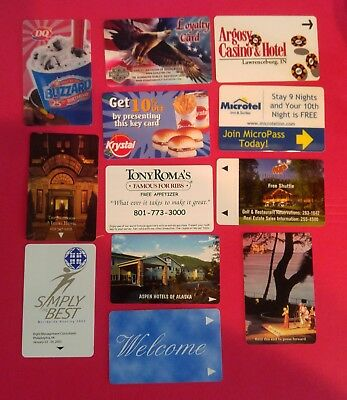 12- Collectible Gift Cards & Room Cards - Variety of areas and Subjects- Harley