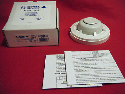 System Sensor 5603 Fixed Temp Heat Detector - White, New