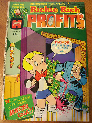 Lot of 5 Richie Rich Profits # 1 2 3 6 11 First Issue Harvey Comic Book 1974