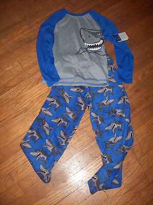 boy's pajama set by faded glory size small(6/7) brand new with tags shark print