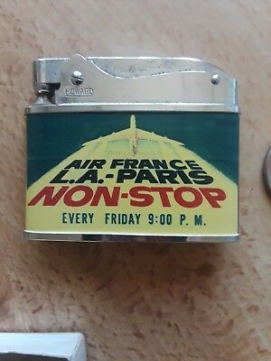 aviation collectibles: neat old lighters from First Class! AIR FRANCE LA-PARIS