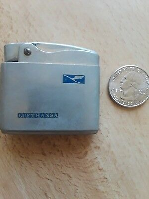 aviation collectibles: neat old lighters from First Class! LUFTHANSA 1960s