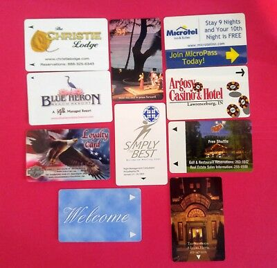 10- Collectible Gift Cards & Room Cards -different areas- Christie Lodge- Harley