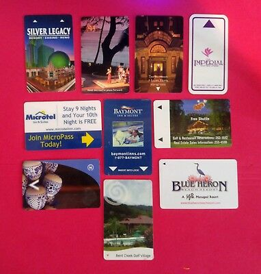 10- Collectible Gift Cards & Room Cards - Variety of areas-  Sliver LegacyCasino