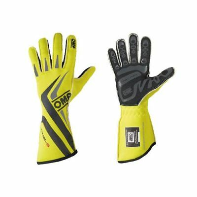 OMP Racing IB755EGFXL One-S 2016 Driving Gloves (Fluorescent Yellow) - X-Large
