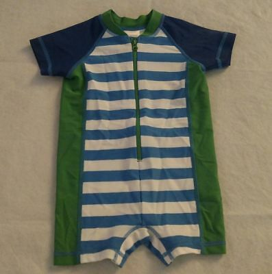 NWT Hanna Andersson Striped Swimmy Rash Guard 1PC Swimsuit Baby Toddler Boy