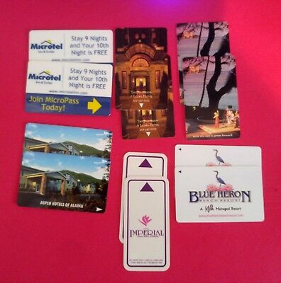 12- Hotel Collectible Room Keys- Including Hawaii -  (Doubles)