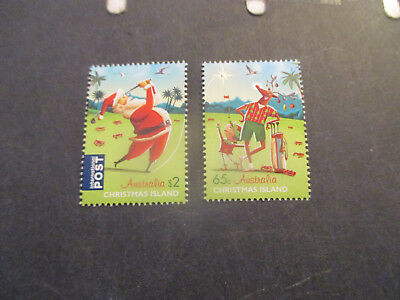 No--1---2017  CHRISTMAS  ISLAND  CHRISTMAS  ISSUES  --2  STAMPS ---MINT