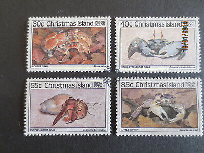 NO--2--1985   CHRISTMAS    ISLAND  CRABS   Part  1--4  STAMPS--F/S--USED