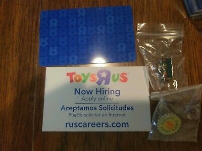 Toys R Us Time Card Pins Now Hiring Card Rare Lot Brand New