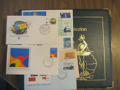 N0-4-- Aust;  Fdc  Album  -1983  Philatelic  International--Good   Order 8 Fdc's