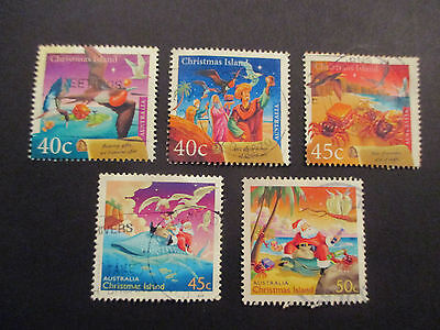 No-2---2003    CHRISTMAS   ISLAND   ISSUED   CHRISTMAS  STAMPS -- 5  IN  ALL