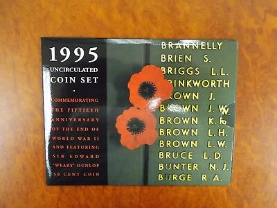 1995 Uncirculated Coin Set - 50th Anniversary Commemorating the end of WW2