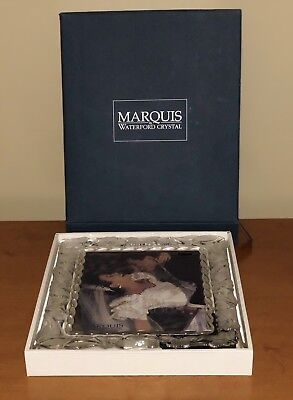 Marquis By Waterford Crystal Floral 8x10 Picture Frame New 7000