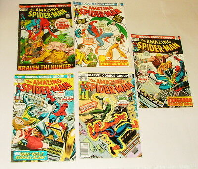 %  1970's Thae Amazing Spider-Man  Comic Book Collection  Lot S-13