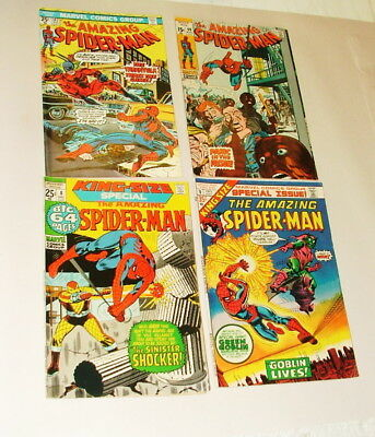 %  1970's Thae Amazing Spider-Man  Comic Book Collection  Lot S-9