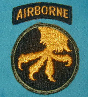 Original WWII 17th Airborne Division patch Paratrooper - Sharp Talons Variation