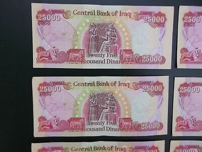 250,000 Iraqi Dinar 2014 Notes With Added Security Features Minimal Circulation