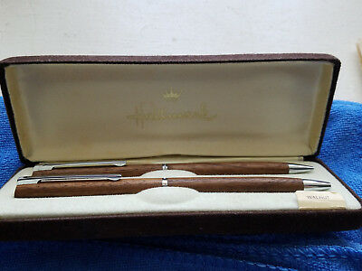 Selling a New  Vintage Wooden Hallmark Ball Point Pen and Pencil Set............