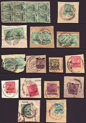 India  -  Kgv - A Selection Of Surcharges & Overprints - On  Pieces -See Scans