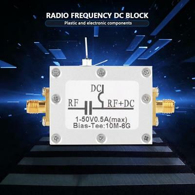 Radio Frequency RF Blocker Bias Tee 10MHz-6GHz Broadband Microwave Coaxial Bias