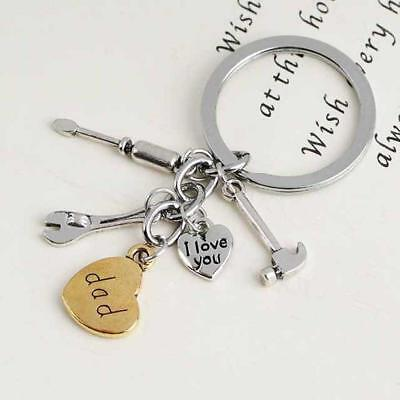 POP Dad I Love You Fix Tools Keyring Keychain Bag Charms Family Daddy's Gifts